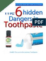Hidden Dangers in Toothpaste