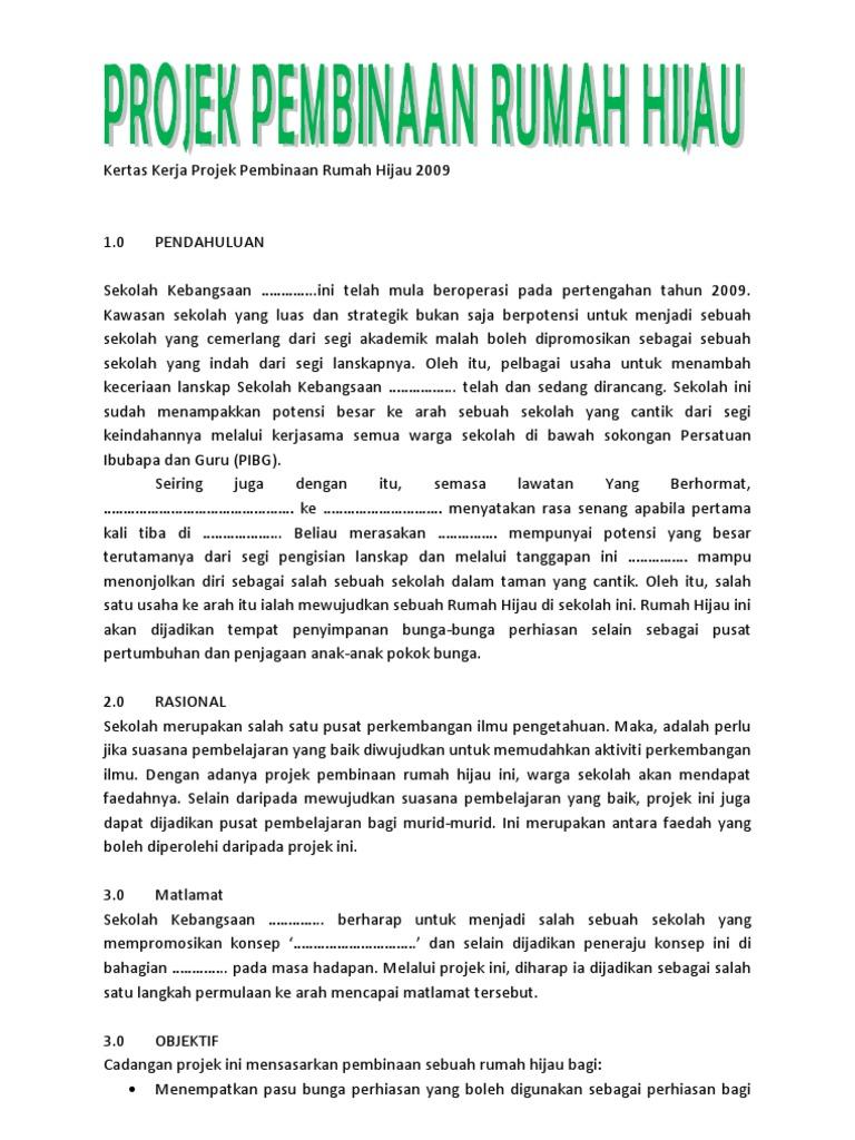 Contoh Kertas Kerja Projek Landskap Contoh Kono