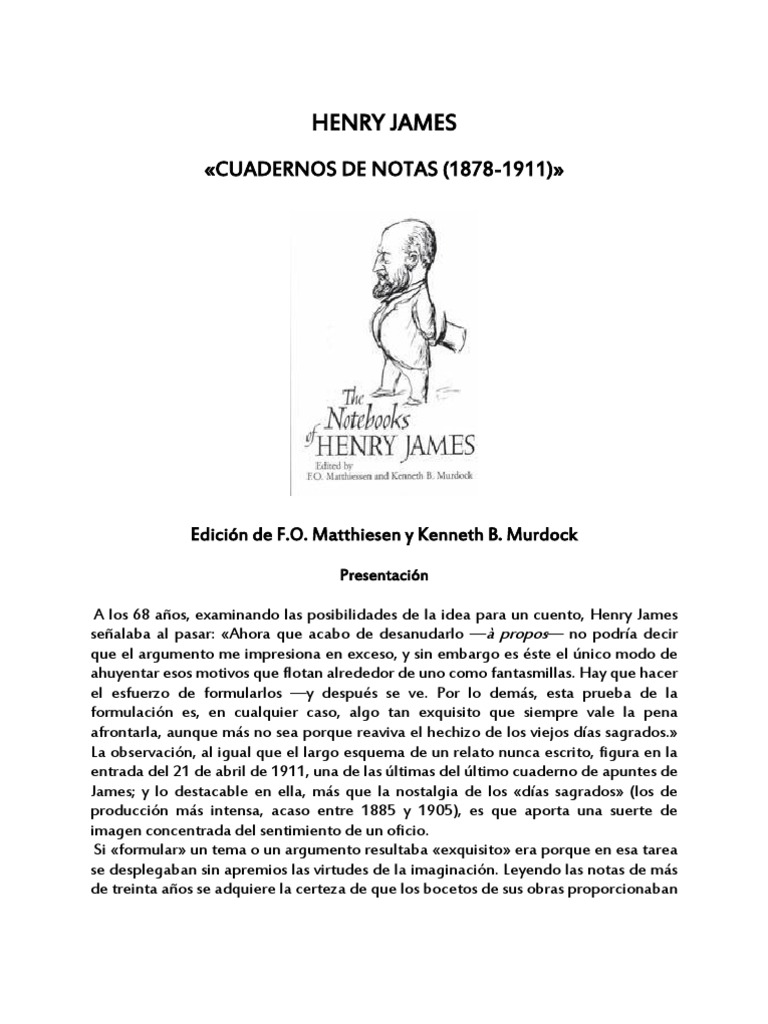 James Henry - Cuadernos de Notas (1878 - 1911)
