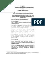 Programa III Jornadas Historia de Las Izquierdas en Chile
