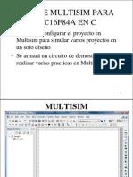 Uso de Multisim Para PIC16f84A en C