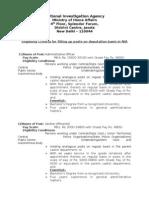 NIA Recruitment Eligibility 01092010