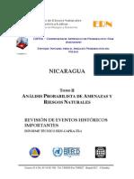 Probabilidad de Amenazas y Riesgos Naturales en Nicaragua