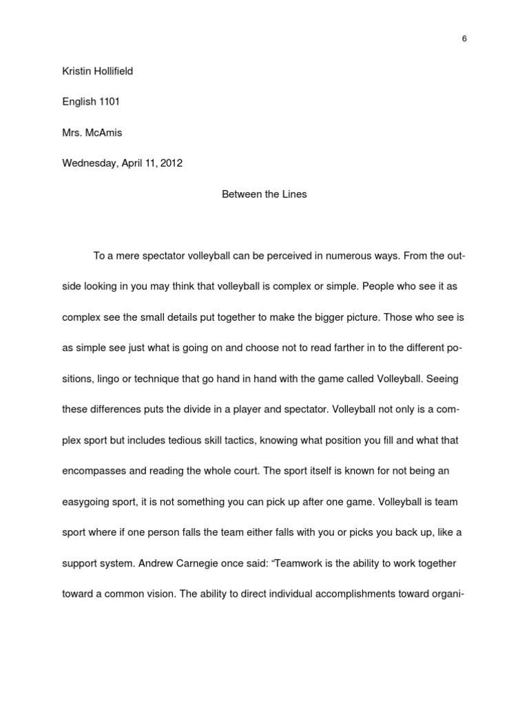 Volleyball essay compare and contrast persuasive essay