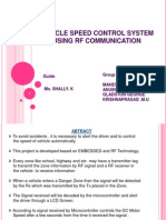 Vehicle Speed Control System Using Rf Communication