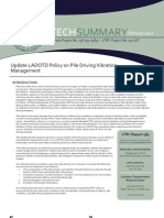 LTRC TS_483 Update LADOTD Policy on Pile Driving Vibration Management