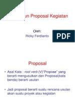 Menyusun Proposal Kegiatan