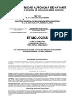 PROGRAMA DE ETIMOLOGIAS