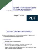 Muge_Snoop Based Multiprocessor Design