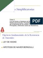 Clase 3 - Hiptesis Simplificatorias - Ley de Hooke V250505