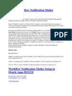 Oracle Workflow Notification Mailer