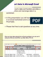 Excel - Sort Training