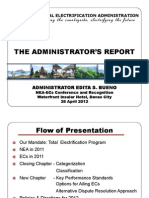 THE ADMINISTRATOR'S REPORT 2012