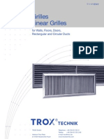 Technical Data of Linear Grills
