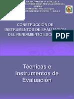 téccnicas e Instrumentos de Evaluación