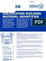 Wickes Calculating Building Materials Good Practice Leaflet 13