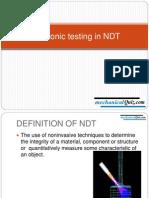 Ultrasonic Testing in NDT