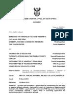 Beweging vir Christelik-Volkseie Onderwys v Minister of Education (308/11) [2012] ZASCA 45 (29 March 2012)