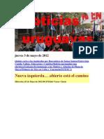 Noticias Uruguayas Jueves 3 de Mayo de 2012