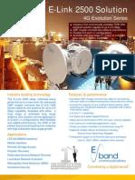 EBand 80 GHz ELink 2500 Solution Spec v041511