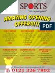 JA Sports Amazing Opening Offer