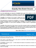 Probability Exactly One Event Occurs