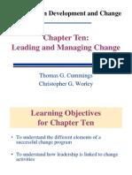 A Model for Managing Change