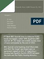 BRI Syariah Aims 5,000 Houses by 2012