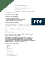 DESCRIPCIÓN DEL CÓDIGO CUENTA CLIENTE