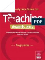 Teaching Award Prog 2012