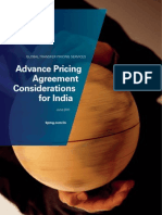 Advance Pricing Agreement Considerations for India