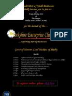 Yorkshire Enterprise Club Launch #YEC12