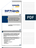 A Comprehensive Introduction to SAP Solution Manager(1)