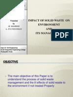 Solid Waste Management Slide Show