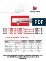 OFERTA SAUNIER DUVAL CAMPAÑA 2012 (Precios para instalador)
