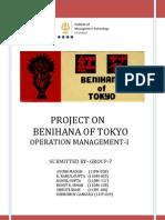 Group-7 Sec-g Om-i Project Report_ Benihana in Tokyo