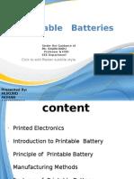 Printable Batteries