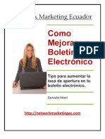 Como Mejorar un Boletín Electrónico