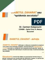 Dr. Carmen Dobjanski Spitalul Malaxa - Diabetul Zaharat - Epidemia Secolului