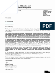 Letter From Minister Dixon to Giles Brading