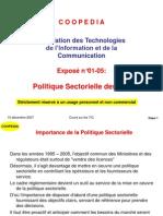 Politique Sectorielle Des TIC