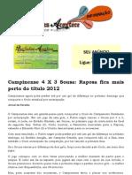 Campinense 4 X 3 Sousa Raposa fica mais perto do título 2012