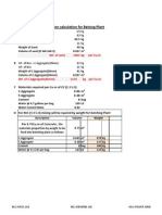 Batching Plant Calculation
