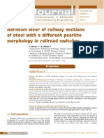 Abrasive Wear of Railway of Steel With Diff Pearlite