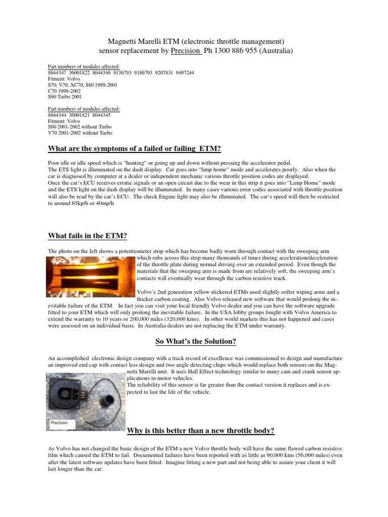 Volvo ETM Replacement | Mechanical Engineering | Manufactured Goods | Volvo Etm Wiring Diagram |  | Scribd