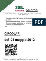 Circolari Del 03 Maggio 2012