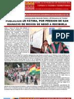 IX MARCHA, San Ignacio por presión no recibe a marchistas, Nota 4