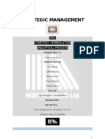 Nishat Textile- Strategic Management Framework