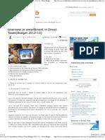 Amendments in Direct Taxes