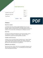 Customizable Business Plan Graphs
